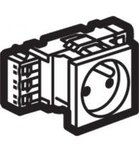 Legrand DLP stopcontact Mosaic 2P+A 10/16A 2 modules wit met schroefklemmen zonder houder - 077331