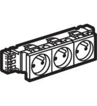 Legrand DLP drievoudig stopcontact Mosaic 3X2P+A 10/16A 6 modules wit met schroefklemmen zonder houder - 077333