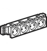 Legrand DLP viervoudig stopcontact Mosaic 4X2P+A 10/16A 8 modules wit met schroefklemmen zonder houder - 077334