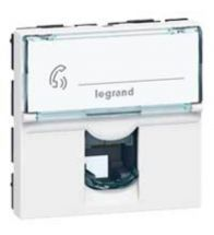 Legrand - Mosaic stopcontact RJ11 2 modules wit - 078731