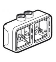 Legrand - Plexo boite apparente double horizontale 2 entrees M20 - 069678