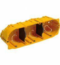 Legrand - Boîte encastrable triple horizontal profondeur 50MM batibox - 080053
