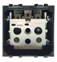 Bticino - Prise 2POLES+TERRE 2MODULES 16A 250V sans touche - LN4142AN