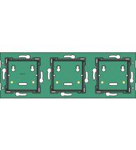 Niko - Home control drievoudige muurprint horizontaal 71MM - 550-14030