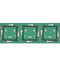 Niko Home Control drievoudige horizontale muurprint 71mm - 550-14030