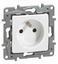 Legrand - Stopcontact 2POLIG +aarding 230V wit+klauwen - 664536