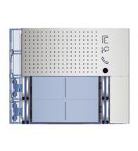 Bticino - Frontplaat voor 351100 4 drukknoppen all metal - 351181