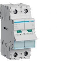 Hager - Modulaire schakelaar 2P 40A 400V - SBN240