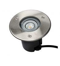 Uni-Bright - Spot sol rond led 1X5W ww alu/inox - R-GU10LED3W-06