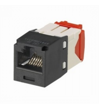 Panduit - Mini-jack RJ45 CAT5E noir - CJ5E88TGBL