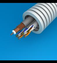 Preflex - 25MM 2XUTP categorie 5E+PVC 6 grijs per 100M - PRE25.UTPCAT5(X2)+PVC6
