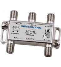 Hirschmann - Verdeler 4-VOUDIG met f-aansluiting dfc 0741 - 695020479