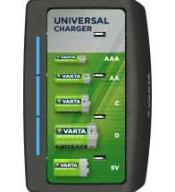 Varta - Universele lader leeg voor 2-4AA 2-4AAA 2-4C 2-4D 9V - 57648.101.401