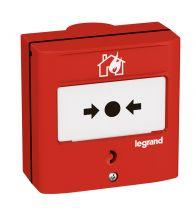 Legrand - Déclencheur manuel saillie rouge à membrane - 138069