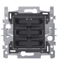 Niko - Socle 6-VOUDIGE potentiaalvrije bouton poussoir 24V no - 170-60050