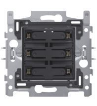 Niko - Socle 6-VOUDIGE potentiaalvrije bouton poussoir 24V no led - 170-60150