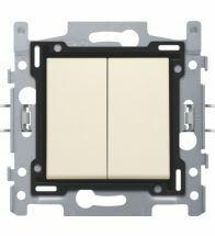 Niko - Interrupteur double allumage cream bornes a connexion - 100-61508