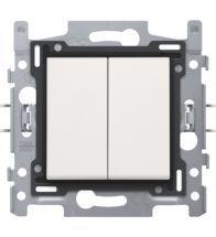 Niko - Double bouton poussoir no/nf white bornes a vis - 101-65000