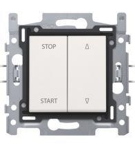 Niko - Interrupteur pour volets white bornes a vis - 101-65900