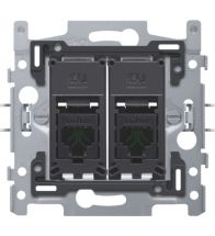 Niko - Sokkel data stopcontact 2X RJ45 utp CAT5E - 170-65152