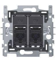 Niko - Sokkel data stopcontact 2X RJ45 utp CAT6 vlak - 170-65162