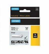 Dymo - Etiket vinyl wit 12MMX5,5M - 18444