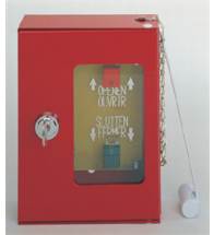Plasticor - Boite rouge pour cde moteur 24VDC - PL170