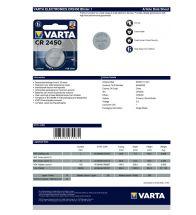 Varta - 'CR2450' 3V - 6450.101.401