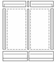 Vaillant - Module de montage pour encastrement toiture vertic al capteur plan