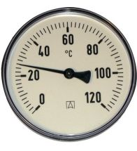 Euro Index - Bimetaal thermometer BIM 63/45 R 1/2 AX 0/120 (zie 023022)