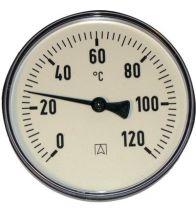 Euro Index - Bimetaal thermometer 80 mm dompelbuis 45