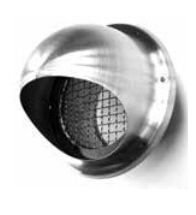 Ventiklima - Terminaux RVS avec filet 1x1cm d180