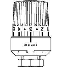 Oventrop - Thermostat Uni LH... 7-28grC, 0 1-5, bulbe liquide modèle blanc, M 30 x 1,5