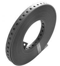 Rofix - Bande de montage plastifiée 19mm (10m) - gris - en dérouleur carton