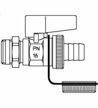Oventrop - Robinet à tournant sphérique , DN 15, G 1/ 2 male, laiton - Optiflex