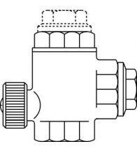 Oventrop - Flow valve brons 1 - SVU
