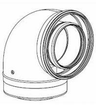 Remeha - Coude lisse PP 90° D100/150 VITON 9016