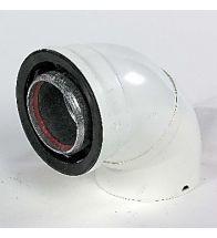 Ubbink - Concentr.bocht alu/kun 90 gr 80/125 mm rolux 4g HR+ & HRtop wit alu binnenpijp