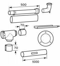 Vaillant - Set concentrisch 80/125 met uitgang 80mm om een schouw te tuberen