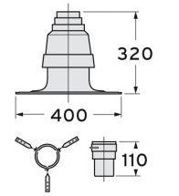 Vaillant - Basisset schouwkap 80mm, bevest.houder aansluitmof 80mm + klemring alu/pp