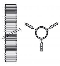 Vaillant - Flexibel pp 80mm (15m) 7 afstandshouders