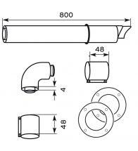 Vaillant - Kit de passage mural Ø 60/100
