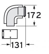 Vaillant - Coude 87° concentrique PP 60/100 pour les chaudièr es murales à condensation