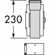 Vaillant - Trappe de visite PP 60/100 pour les chaudières mur ales à condensation