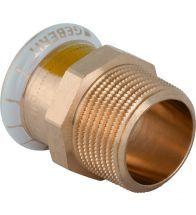 Geberit - Raccord de transition Mapress Cuivre avec filetage extérieur (gaz): d=22mm, R=3/4 - Koper