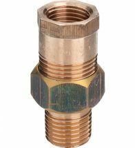 Viega - 3-delige koppeling 3/4 MF brons / blank model - 3341