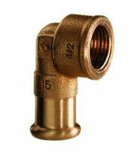 VSH - Brons pressfitting knie F 3/4Fx22 code - 6090G
