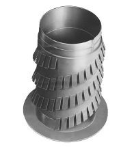 Renson - Gekartelde montageflens d80mm ( 130mm )