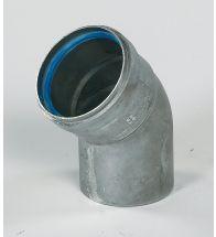 Ubbink - Aluminium bocht 45 gr bi/bu 80 mm naturel dikw. 1,5 mm afvoer HR+ & HRtop