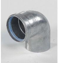Ubbink - Aluminium bocht 90 gr bi/bu 80 mm naturel dikw. 1,5 mm afvoer HR+ & HRtop